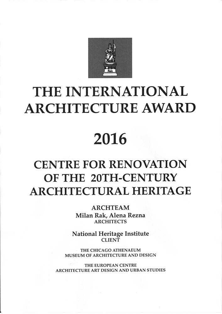 THE INTERNATIONAL ARCHITECTURE AWARD 2016